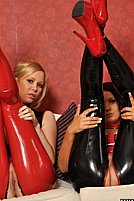 Farrah Faith And Lucy A In Sexy Lesbian Latex Fun - Picture 5