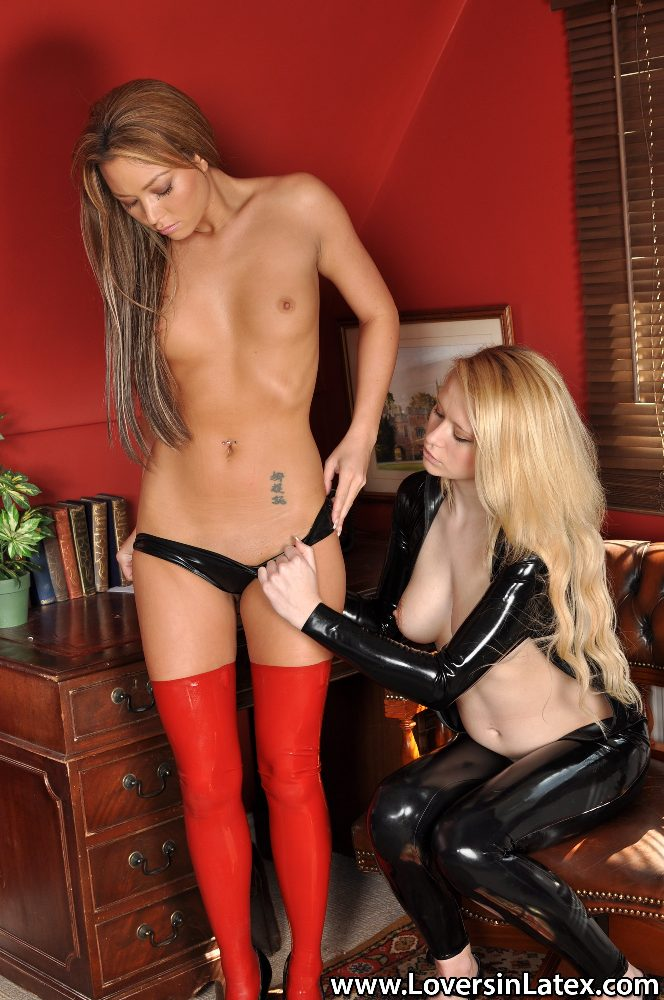Latex lesbian seduction